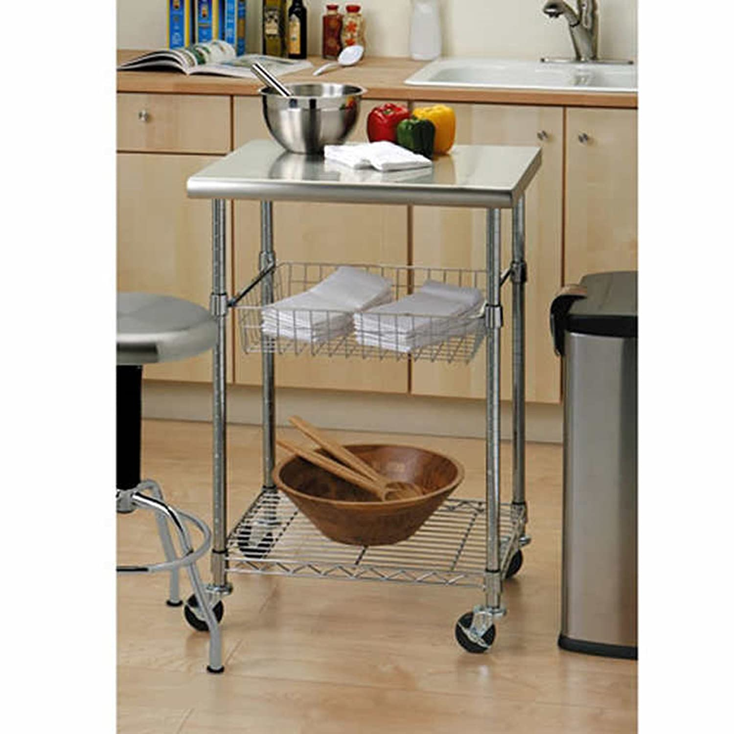 Vancouver Classics Stainless Steel Kitchen Cart with Chef Table