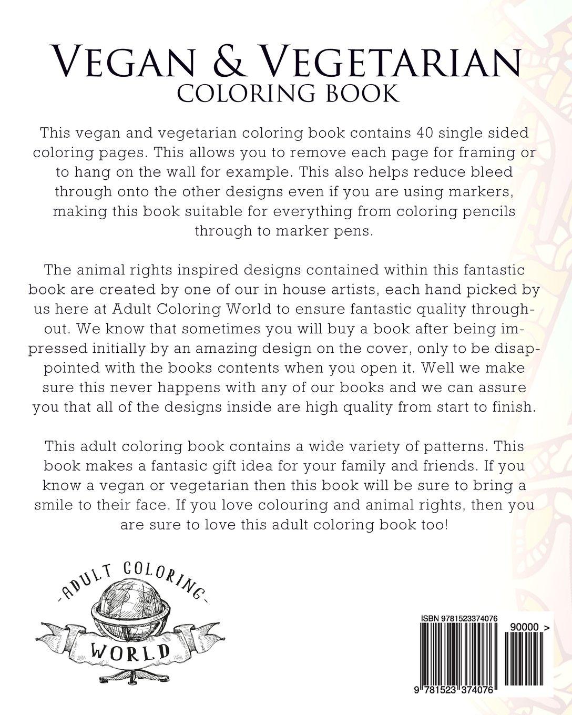 amazon com vegan u0026 vegetarian coloring book an coloring
