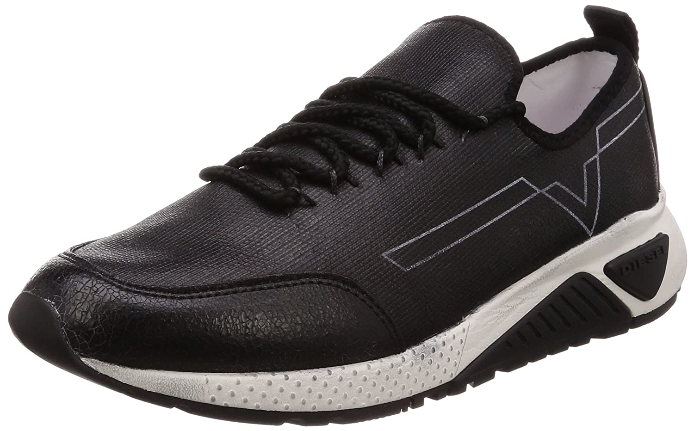 (ディーゼル) DIESEL メンズ クラック加工 スニーカー SKB S-KBY - sneakers Y01534P1756 B077D8B7WB 26.5 cm|ブラック ブラック 26.5 cm