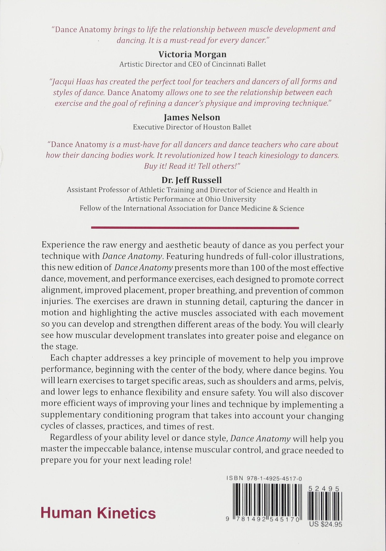 Dance Anatomy 2nd Edition Jacqui Greene Haas 9781492545170 Amazon
