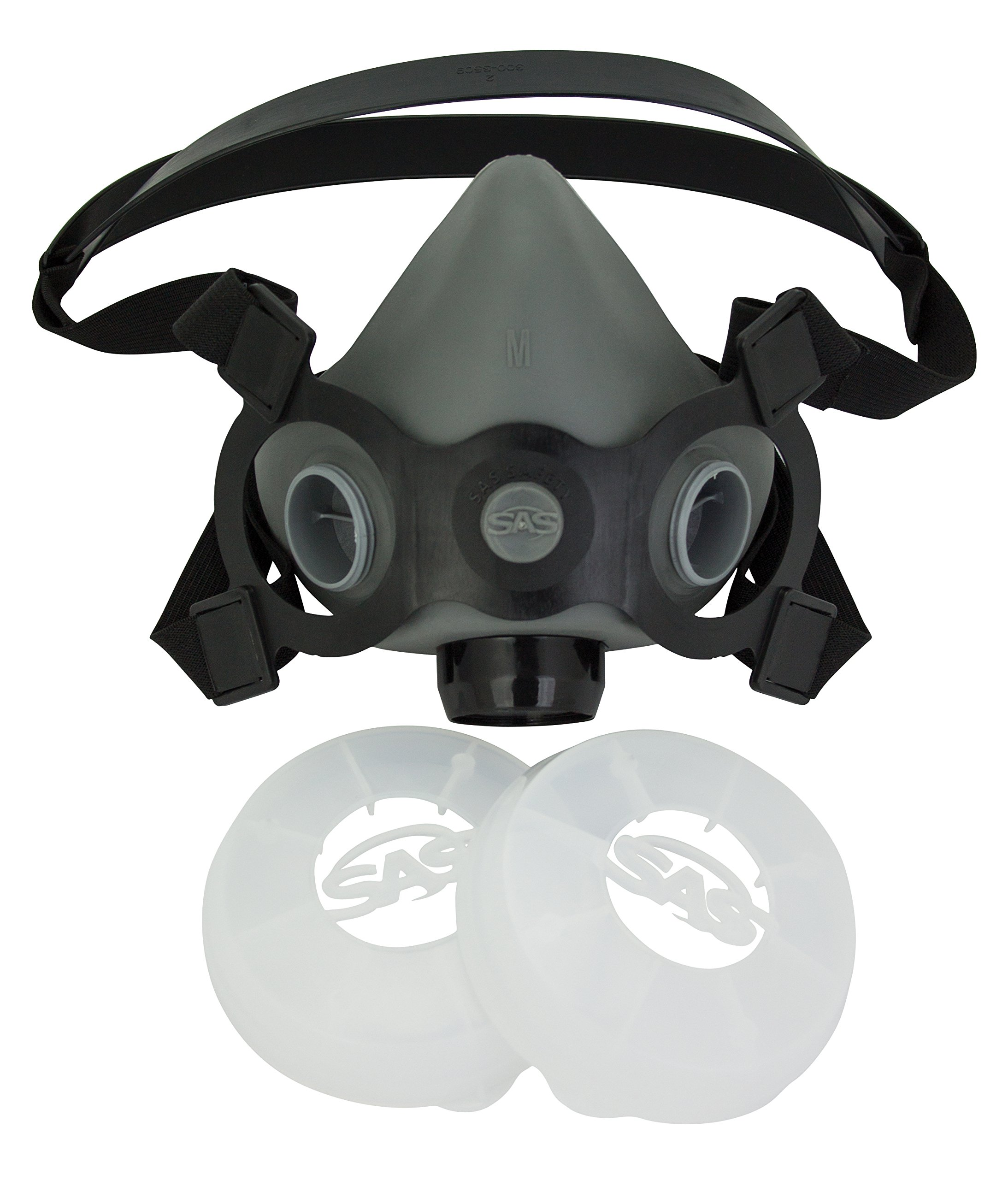 SAS Safety Corp. 311-2017 SAS Safety BreatheMate Half Mask APR Respirator with Filter Retainer, Medium