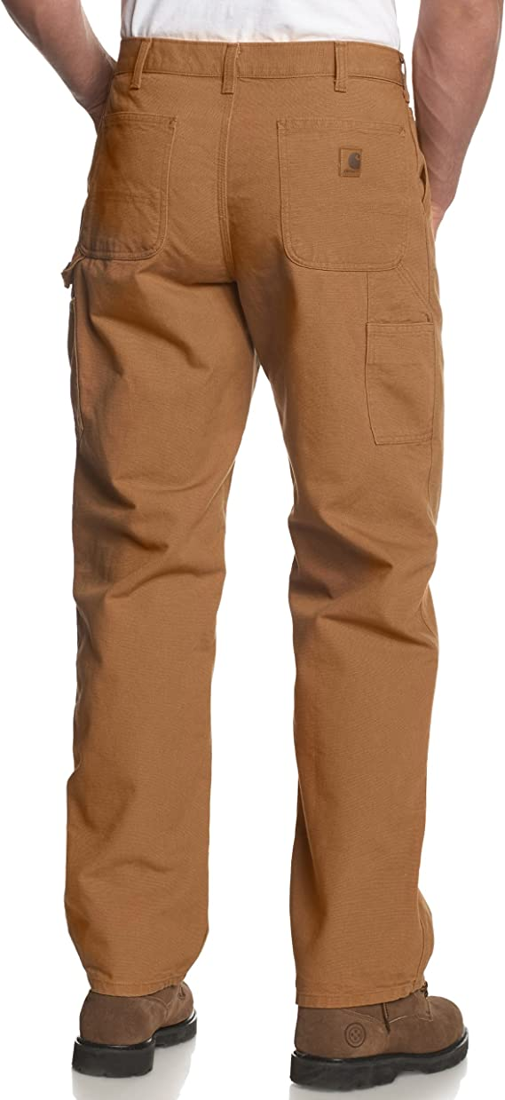 Amazon Com Carhartt Men S Washed Duck Work Dungaree Pant Work Utility Pants Clothing