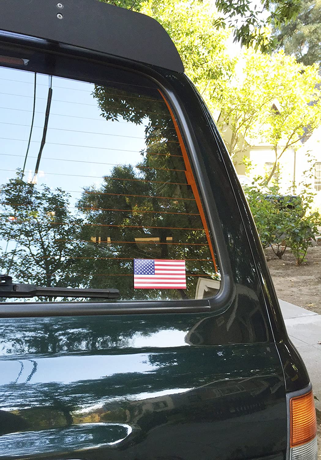 By Pip /& Co American Flag Bumper Sticker 4 x 2.1 Military Specification Size