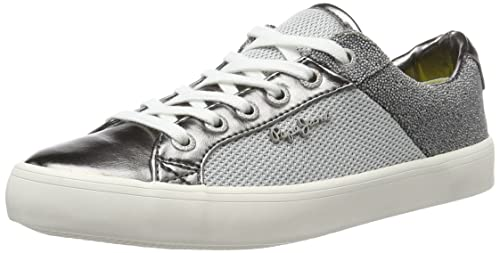 Pepe Jeans Clinton Mesh Silver, Zapatillas para Mujer: Amazon.es: Zapatos y complementos