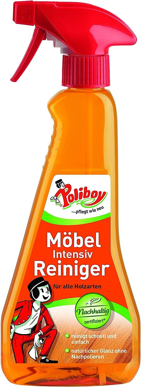 Poliboy - Möbel Intensiv Reiniger - für alle Holzarten - schnelle und einfache Reinigung und Pflege - Sprühmatic 375 ml - Made in Germany: Amazon.de: Drogerie & Körperpflege -