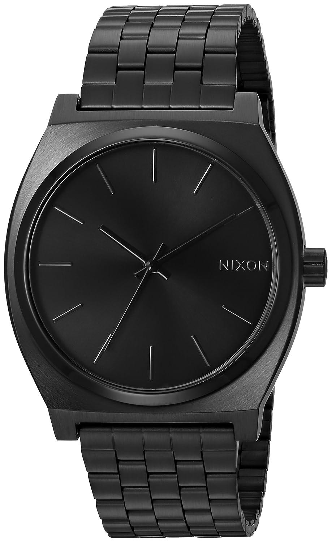 31c84858b54 Amazon.com  Nixon Time Teller A045. Black Women s Watch (37mm. Black Metal  Band Black Watch Face)  Nixon  Watches