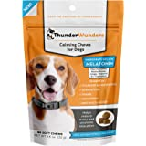 ThunderWunders Dog Calming Chews - Anxiety Supplement with Thiamine, L-Tryptophan, Melatonin and Ginger - Relieve Stress From Separation, Storms, Fireworks & Travel