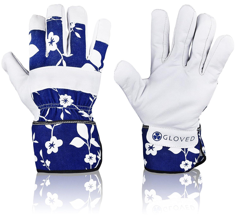Amazoncom Zeemplify Leather Gardening Gloves for Women Medium
