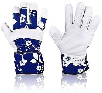 designer gardening gloves. Zeemplify Leather Gardening Gloves for Women  Medium Amazon com
