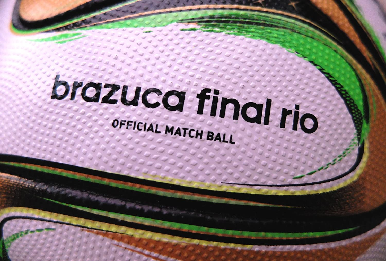 the latest c2eaf 50884 Amazon.com   adidas Brazuca 2014 World Cup Final Official Match Soccer Ball  Size 5   Sports   Outdoors