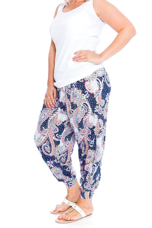 Nouvelle Plus Size Paisley Print Harem Trouser