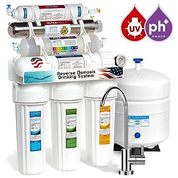 Captivating EXPRESS Wasser 11 Stage UV UV + Alkaline + Umkehrosmose Home Trinkwasser  Filtration System