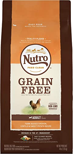 NUTRO Grain Free Adult Regular Large Breed Dry Dog Food, Chicken