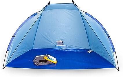 Portwave Tente Abri De Plage Modèle Andrina Protection Uv 60 Ultra Légère à Transporter Grandes Dimensions Bleu