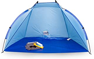 Portwave - Tente / Abri de Plage - Modèle Andrina - Protection UV 60 - Ultra légère à transporter - Grandes Dimensions - Bleu POS7C #Portwave PW-2666