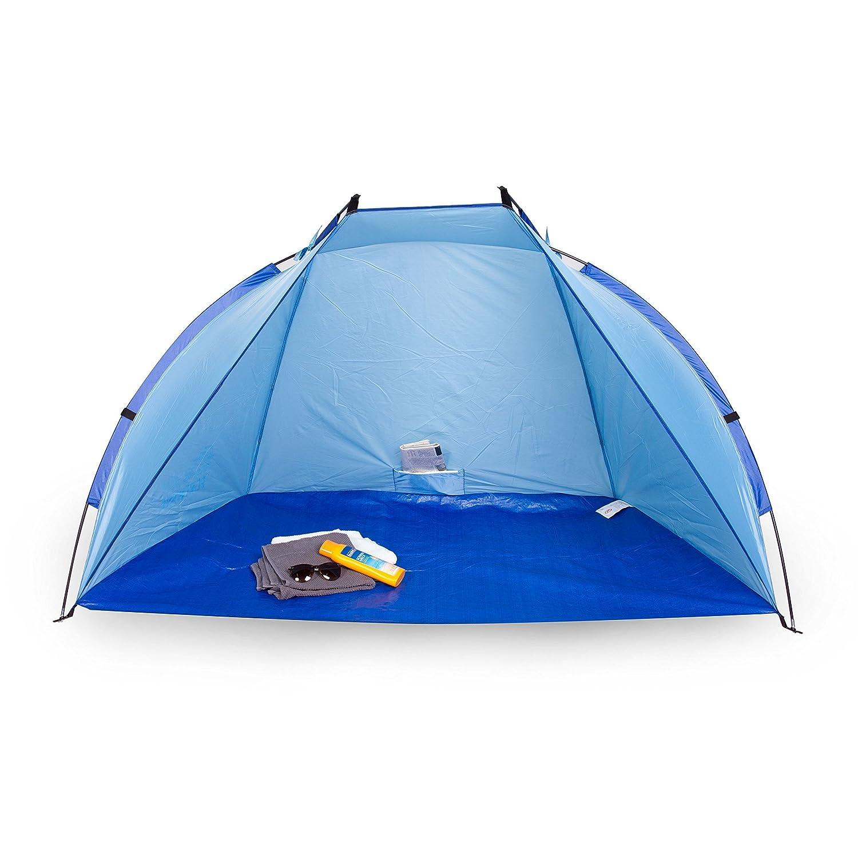 Andrina paraviento de playa, portable, protección UV 60, azul Portwave PW-2666