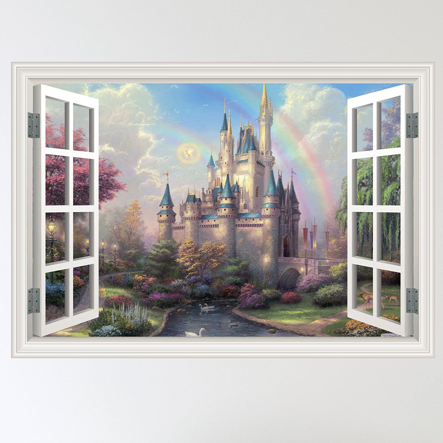 Full Colour Fairy Castle Mystical Window Scene Wall Sticker Decal Wall Art  Girls Room (W70xH49cm): Amazon.co.uk: Kitchen U0026 Home Part 59