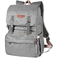 Musgoody Waterproof Multi-Function Diaper Bag Backpack with Stroller Straps & Changing Pad