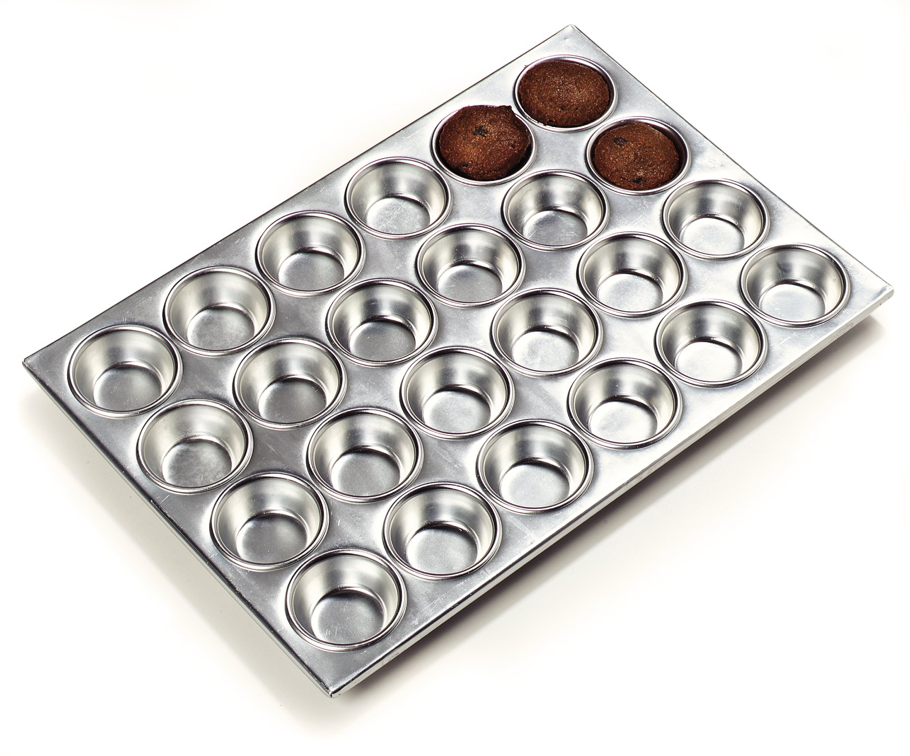 Carlisle 602424 Aluminum 3003 24 Cup Muffin Pan, 20.5'' Length x 14'' Width, 3-oz. Capacity (Case of 12)