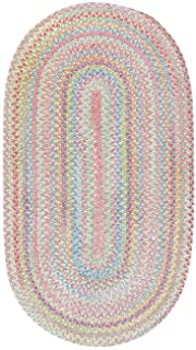 product image for Capel Rugs Baby's Breath 11 x 14 Oval Braided Area Rug (Light Green)