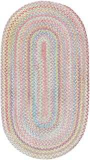 product image for Capel Rugs Baby's Breath 3 x 5 Oval Braided Area Rug (Light Green)