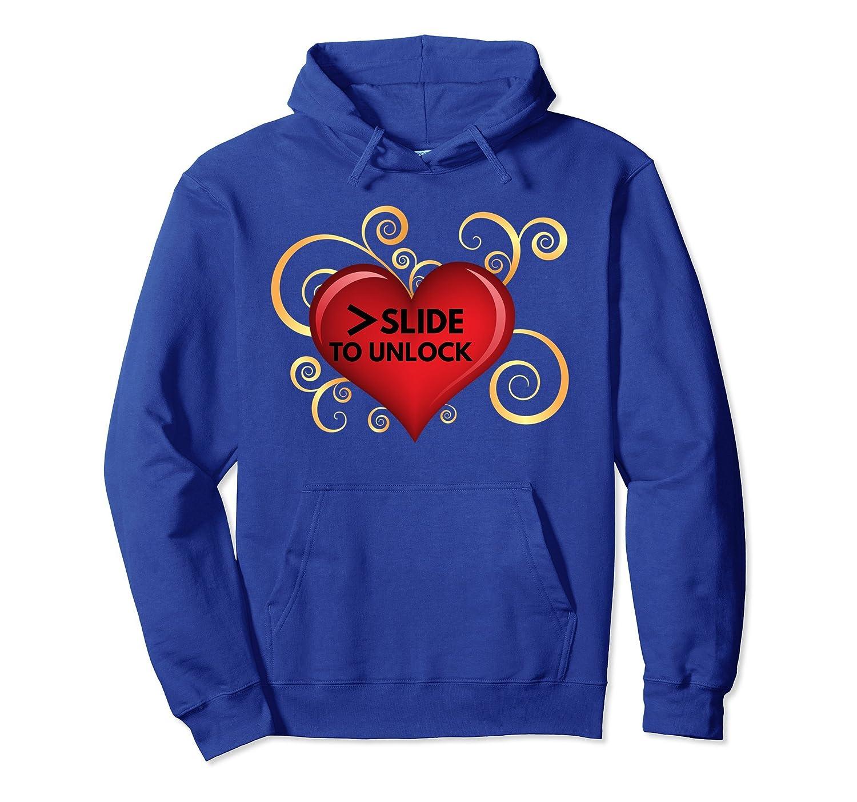 >Slide To Unlock Love Heart Hoodie- TPT