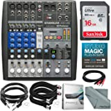PreSonus StudioLive AR8 USB 8-Channel hybrid Performance and Recording Mixer and Accessory Bundle w/ 16GB + Cables + Fibertique Cloth