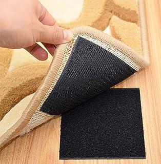 Rug Anchors Carpet Hook And Loop Non Slip Mat Anti Skid Stickers (10PCS