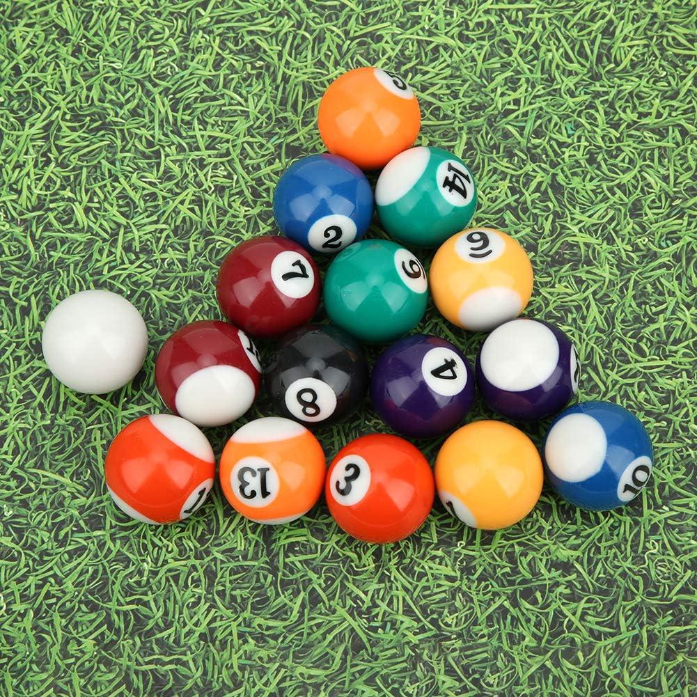 Junluck Mini Palla da Biliardo 16 Pezzi 32mm Resina Fai Pratica con Le Palline Set di Palline da Piscina Ecologiche Bambini Palla da Biliardo Accessorio per Biliardo per Sale Giochi//Bar//Sport
