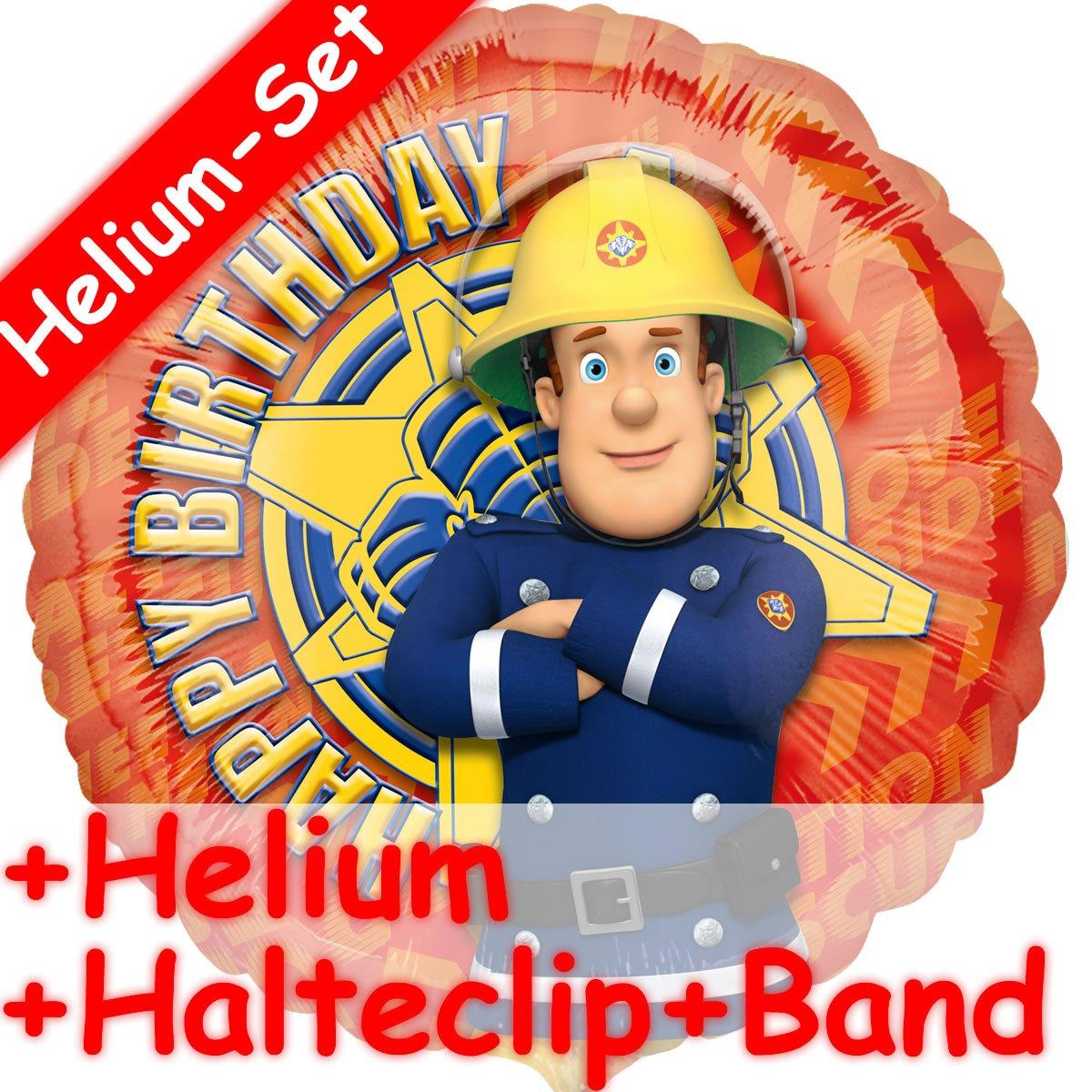 Globo Set * SAM el bombero + helio relleno + pinza + cinta ...