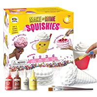 Arts and Crafts for Girls. DIY Dessert Paint Your Own Squishies Kit! Gifts for Craft...