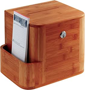 Safco Products 4237CY Bamboo Suggestion Box, Cherry
