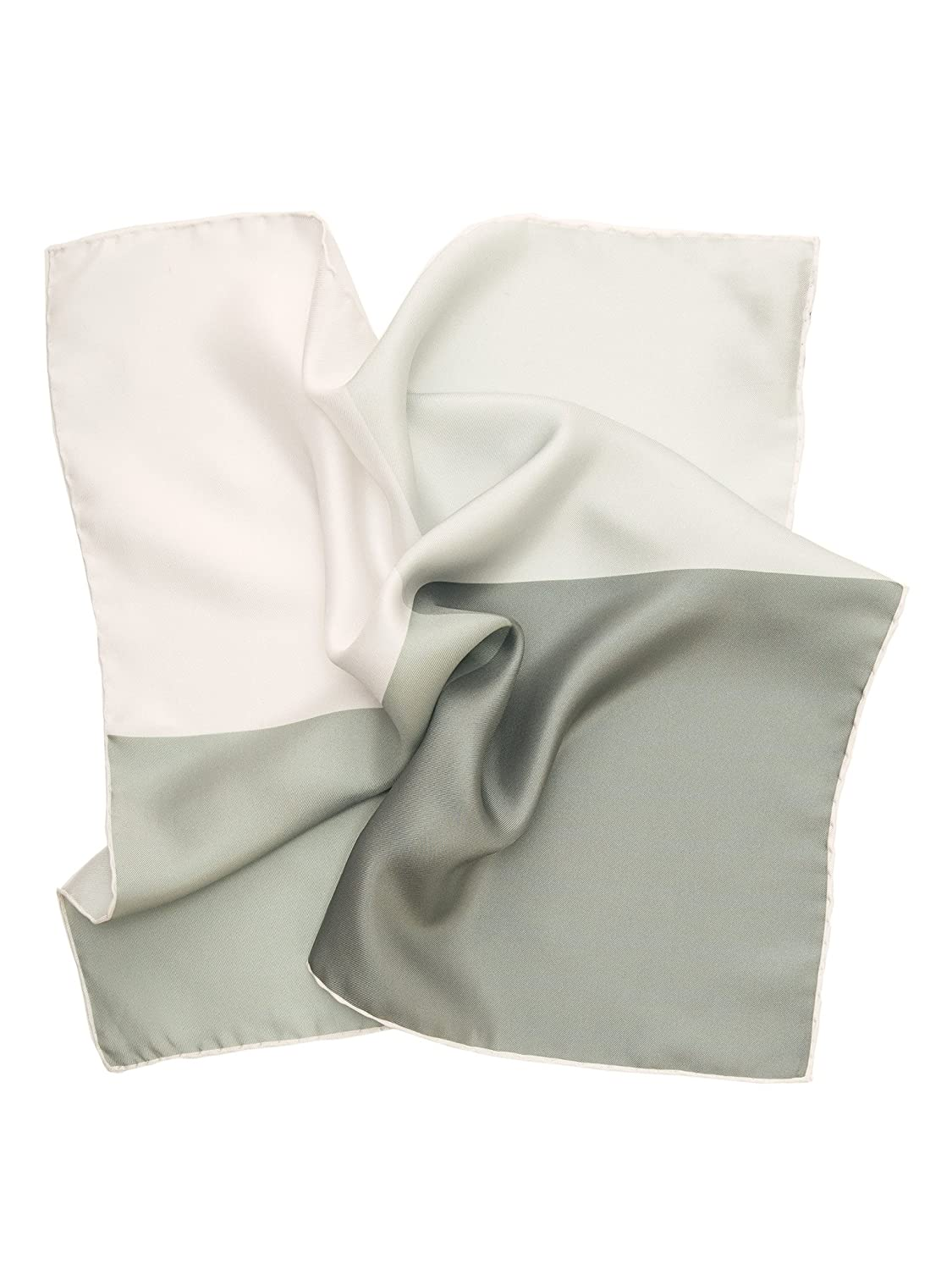 Elizabetta Mens Large Italian Pocket Square Made in Italy Solid White Hand Sewn Hems POK225-AB 16
