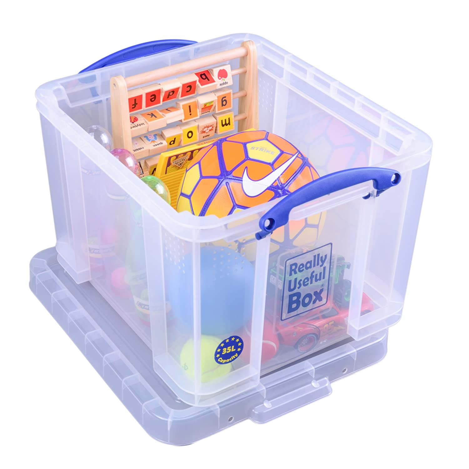 Really Useful Storage Box 35 Litre Clear Ref 35C Really Useful Products Ltd