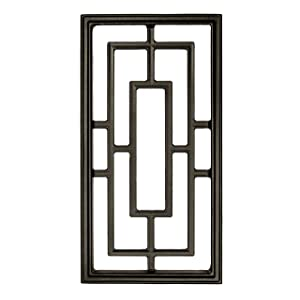 """Nuvo Iron Rectangle Decorative Insert for Fencing, Gates, Doors, Home, Garden 17"""" X 9"""" ACW57"""