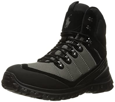 Polo Ralph Lauren Men's Hillingdon Boot, Black/Charcoal Grey, ...