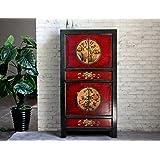 Opium Outlet Chinesischer Schrank Hochzeitsschrank Kolonialstil Shabby Chic Stil Bunte Motive Design 1
