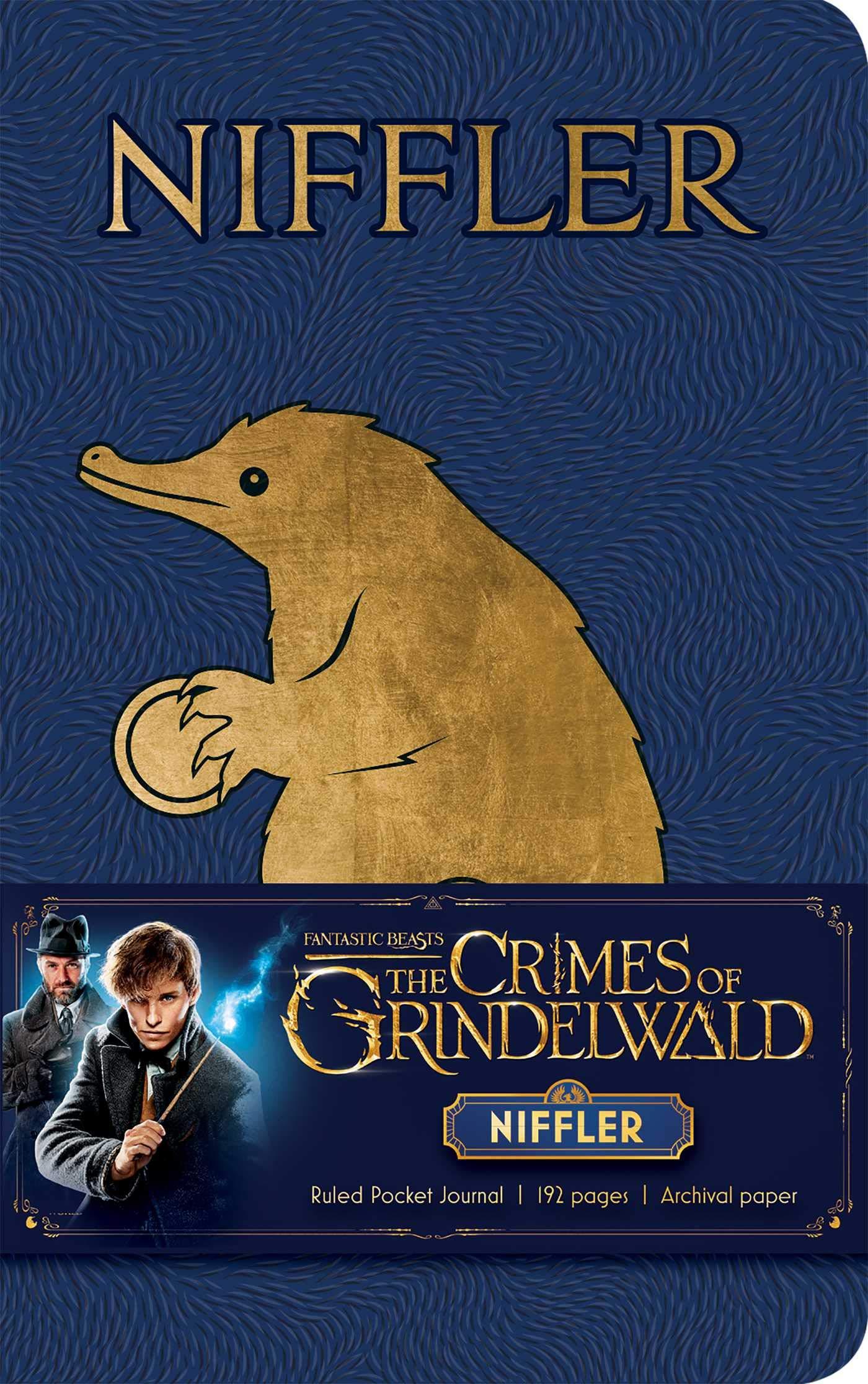 fantastic beasts the crimes of grindelwald niffler ruled pocket journal