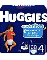 HUGGIES OverNites Night Time Baby Diapers, Size 4, 68 count