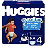 HUGGIES OverNites Diapers, Size 4, 68 ct., Overnight Diapers (Packaging May Vary)