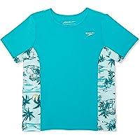 Speedo Girl's UV Swim Shirt Short Sleeve Printed Rashguard