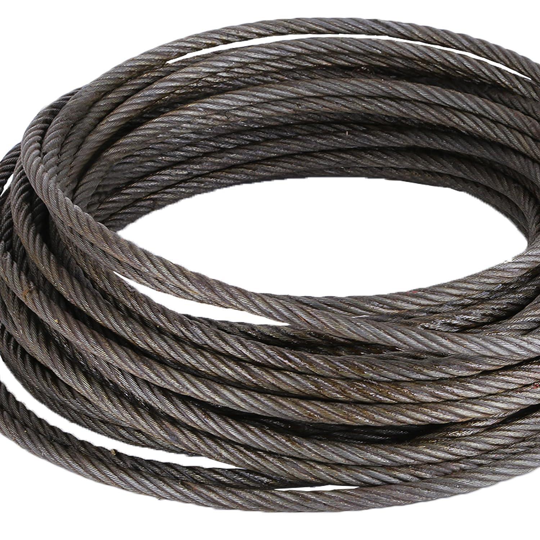 BananaB Draht-Stahlseil 15m Windenseil 10mm Stahlseil Seil Draht ...