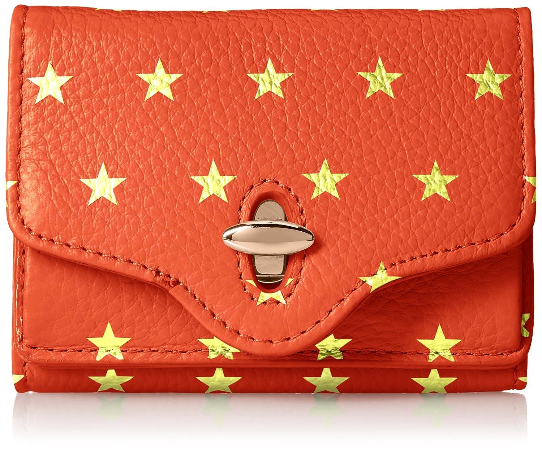 [ハシバミ] ジーンスター 三つ折り財布 ジーンスター Ha-1706-412 B0767JM74L レッド レッド