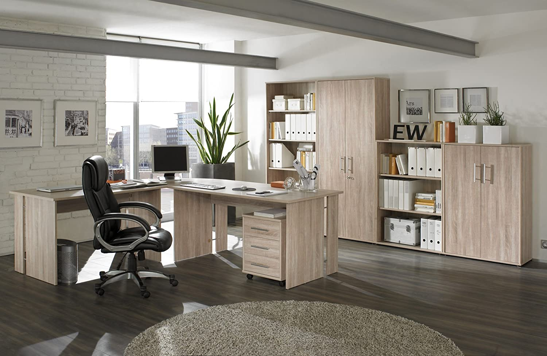 Elegant Büromöbel Büro Möbel Set Arbeitszimmer Omega 8 Teilig Dekor Sonoma Eiche:  Amazon.de: Küche U0026 Haushalt Amazing Design