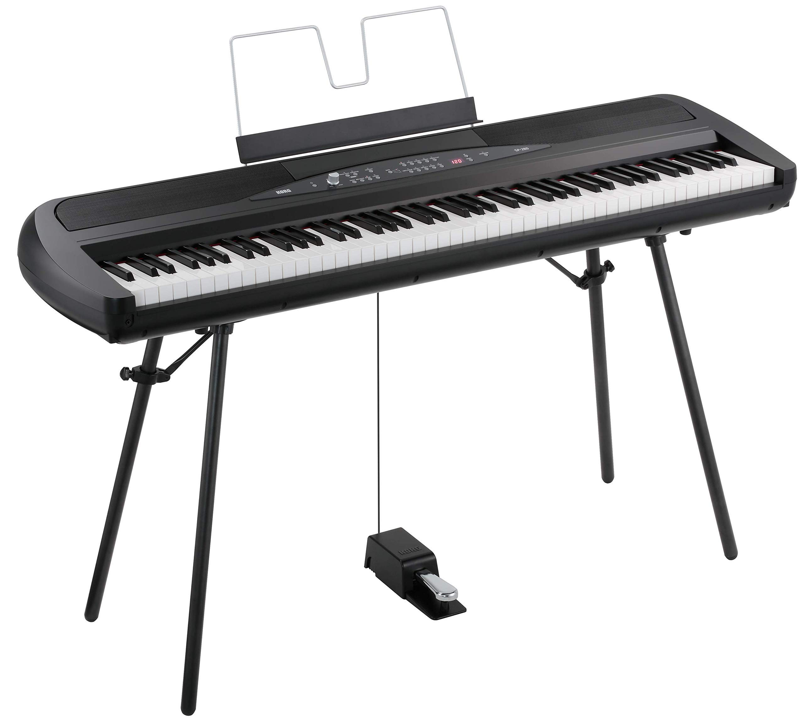Korg SP280BK 88-Key Digital Piano with Speaker (Renewed) by Korg
