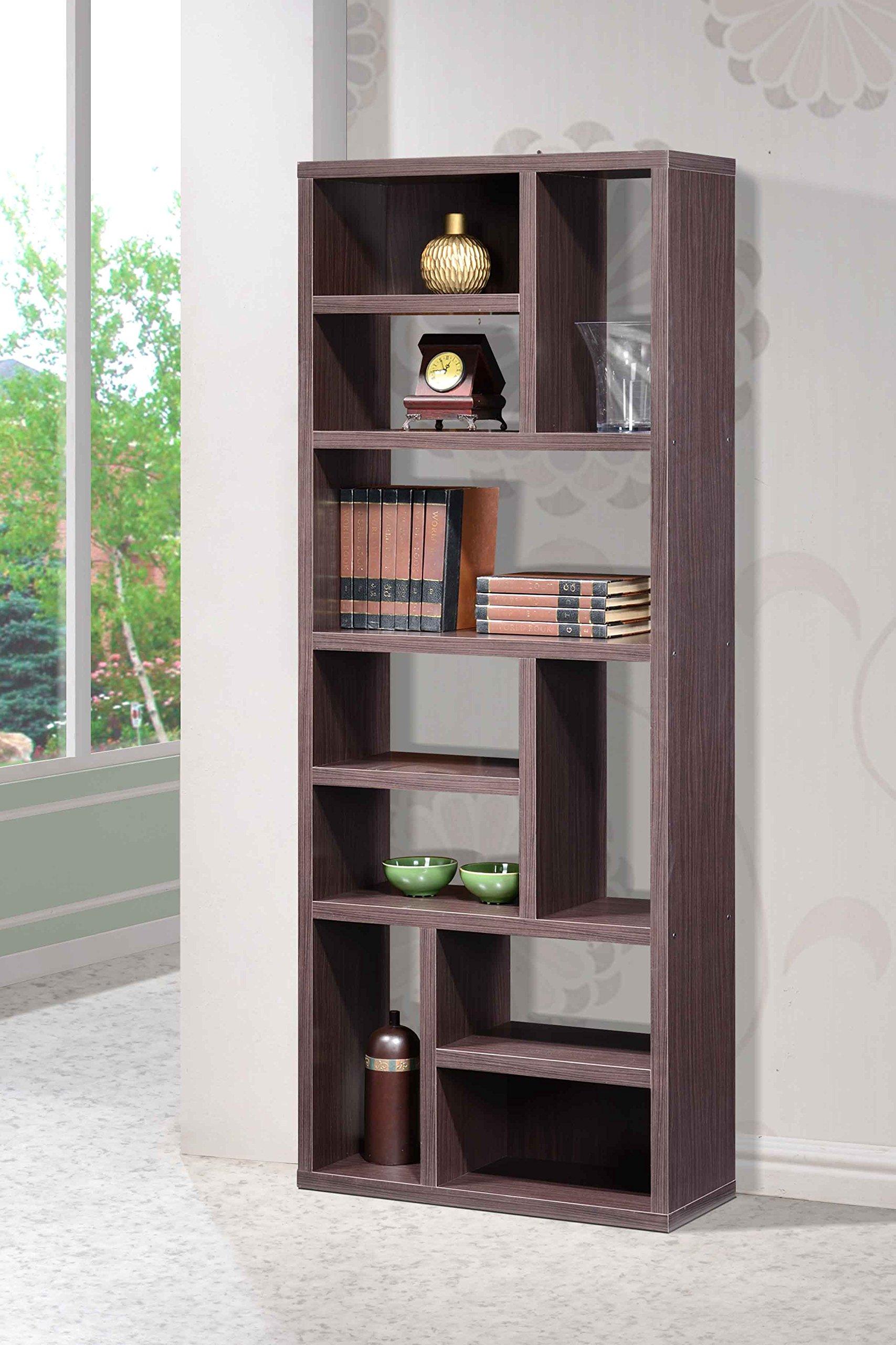 Intercon Lifestyles STUDIO Living Collection, Wall Shelving Unit, Weathered Dark Gray Finish