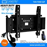 """Tanotis Elite F200 Fixed Tv Wall Mount With Wire Manager For Lcd Led Tv Supports 13 To 32"""" Inch"""