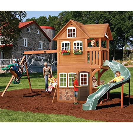 The best backyard swing sets for kids 2018 family living for How to build a swing set for adults