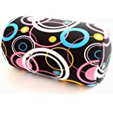 """Home Office Chair Car Seat Cushion Microbead Roll Pillow 7"""" x 12"""" Head Neck Back Comfort (Black & Color)"""