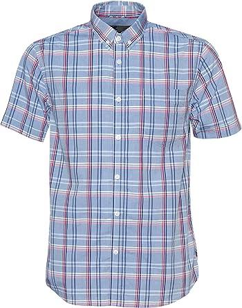 Merc HELMSTAL - Camisa de Manga Corta a Cuadros con Botones: Amazon.es: Ropa y accesorios